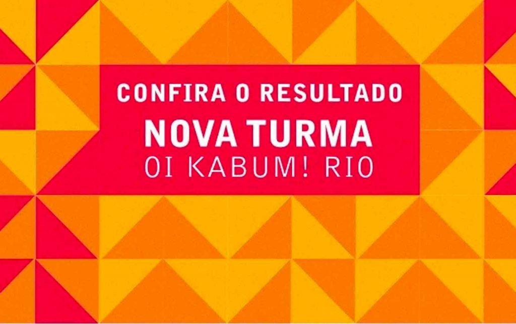 Selecionados para a turma 2015-2016 da Oi Kabum! Rio